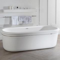 Porcelanosa Epoque Krion Bathtub with Swarovski trim