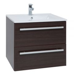Purity Brown 600mm Wall Mounted Drawer Unit With Basin