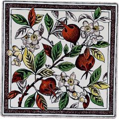 Original Style Apple Blossom Single Decor Tile