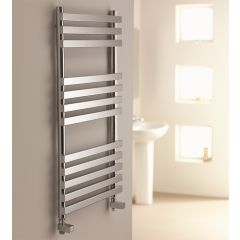 Aquarius Flat Chrome Towel Rail
