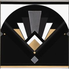 Original Style Black Fan Decor Tile