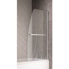 Ascent Half Sail Luxury Bath Screen 1400 x 800mm