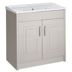 Astley Stone Grey 800mm Floor Standing Unit & Ceramic Basin