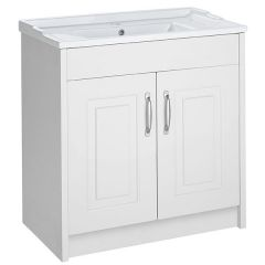 Astley White Ash 800mm Floor Standing Unit & Ceramic Basin
