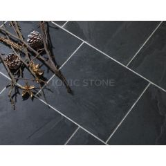 IS Brazilian Black Riven Slate 40 x 40cm