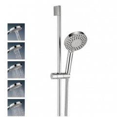 Central shower kit with five spray patterns