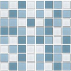 Ceramic Pool Gloss Carribean Mix Mosaic Tile