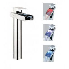 Crosswater Water Square Lights Basin Tall Monobloc Tap