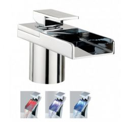 Crosswater Water Square Lights Deck Mounted Bath Filler Monobloc Tap