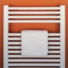 Bisque Deline Towel Radiator, white