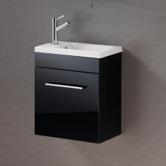 Eden 40 Wall-hung Base Unit & Basin Combination - Black