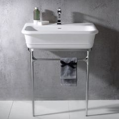 Epoque hand basin with chrome frame