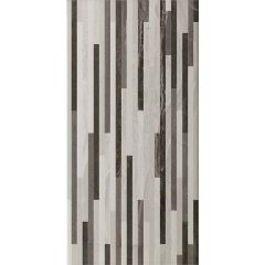 Ethereal Grey Stripes Mosaic Tile 30 x 60cm