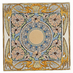 Evening Reverie Single floral tile