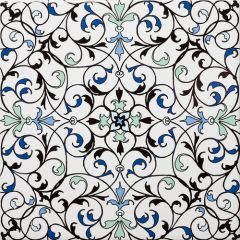Fes Light Floral Decor Tile 20 x 20cm