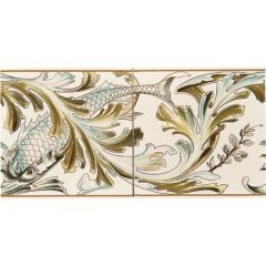 Original Style Fish Frieze Border 2-tile Set