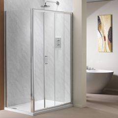 Genesis Sliding Shower Door (shown with side panel)