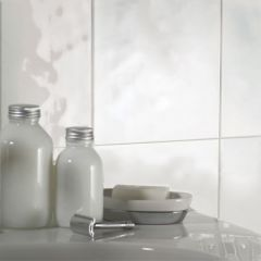 Bumpy White Gloss Ceramic Wall Tile
