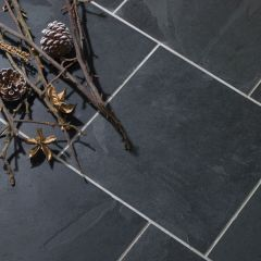 IS Brazilian Black Riven Slate 30 x 30cm