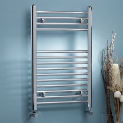 K Straight Chrome Heated Towel Rail