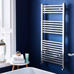 K Squared Chrome Heated Towel Rail