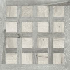 Kuni Intarsi White & Grey Tile 60 x 60cm