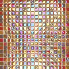 Lustrous Red Mix Glass Mosaic