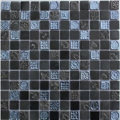 Lux Black Mixed Mosaic