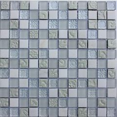 Lux White Mixed Mosaic