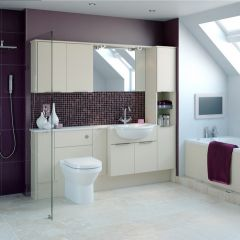 Mereway Adriatic Mussel Satin Fitted Bathroom