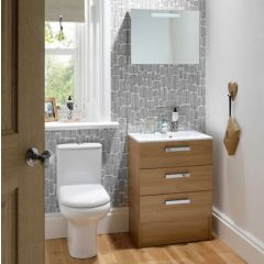Mereway Java Light Oak Fitted Bathroom