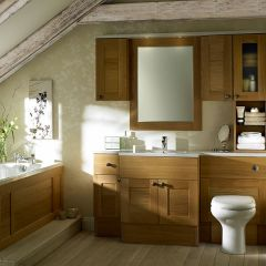 Mereway Sargasso Light Oak Fitted Bathroom