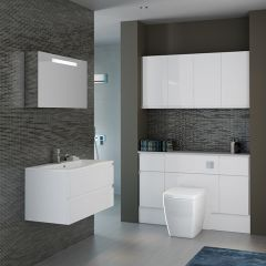 Mereway Segreto White Gloss Combination Bathroom