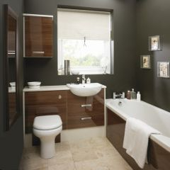 Mereway Adriatic Walnut Gloss Fitted Bathroom