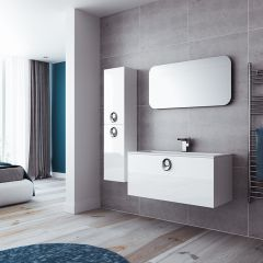 Mereway Adriatic White Gloss Modular Bathroom
