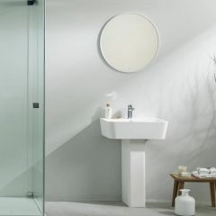 Modul Krion Hand Basin and Pedestal White