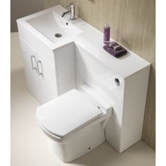 Monica 100 1 Piece Basin & Unit with WC Unit