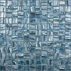 Moon Series Blue Glass Mosaic