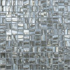 Moon Series Silver Glass Mosaic