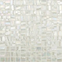 Moon Series White Glass Mosaic