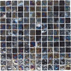 Mosaics Black Hammered Glass 30.5 x 30.5cm