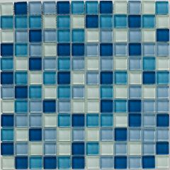 Mosaics Blue Glass Mix 30 x 30cm