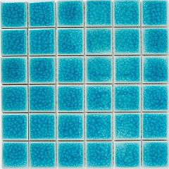 Mosaics Crackle Blue Ceramic 30.5 x 30.5cm