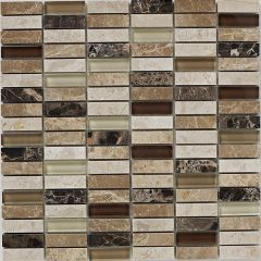 Mosaics Emperador Glass Mix Polished 30.5 x 30.5cm
