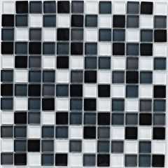 Mosaics Grey Glass Mix 30 x 30cm