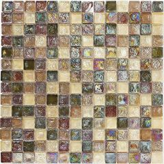 Mosaics Hammered Glass Natural 30.5 x 30.5cm