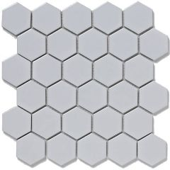 Mosaics Hexagon Porcelain White 30 x 30cm
