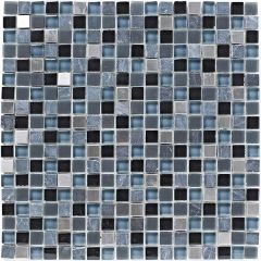 Mosaics Stone and Glass Grey Mix 30 x 30cm