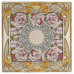 Nocturnal Slumber Single floral tile
