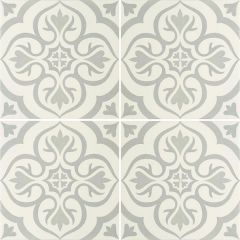 Odyssey Knightshayes Light Grey on Chalk, pattern repeat
